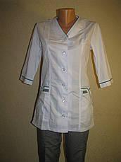 Медицинский костюм женский 22105 ( батист 60-70 р-ры ), фото 2