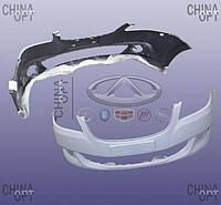 Бампер передний, без решетки бампера, пластик, черный, не крашеный, Chery E5 [1.5, A21FL], A21-2803521FA-DQ, Aftermarket