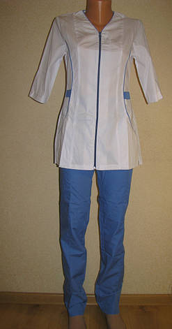 Медицинский костюм женский 22107 ( батист 42-60 р-ры ), фото 2