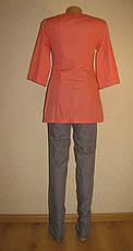 Медицинский костюм женский на молнии 22108 ( батист 42-60 р-ры ), фото 3