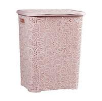 Корзина  для  белья   Ажур   45 л.   Розовая