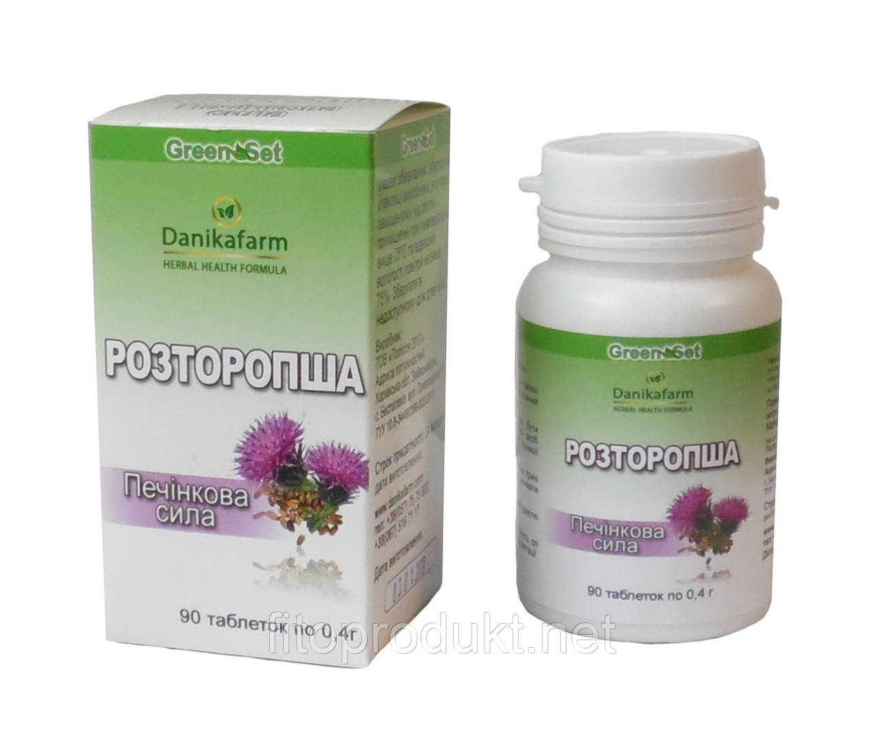 Расторопша — Печеночная сила 90 таблеток Гринсет