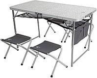 Набор Outventure: стол + 4 стула (OIE41892), Серый