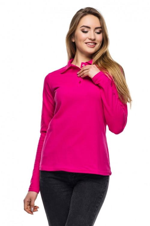 Женская футболка поло с длинным рукавом Много Цветов