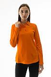 Женская футболка поло с длинным рукавом Много Цветов, фото 5