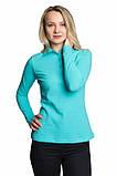 Женская футболка поло с длинным рукавом Много Цветов, фото 6