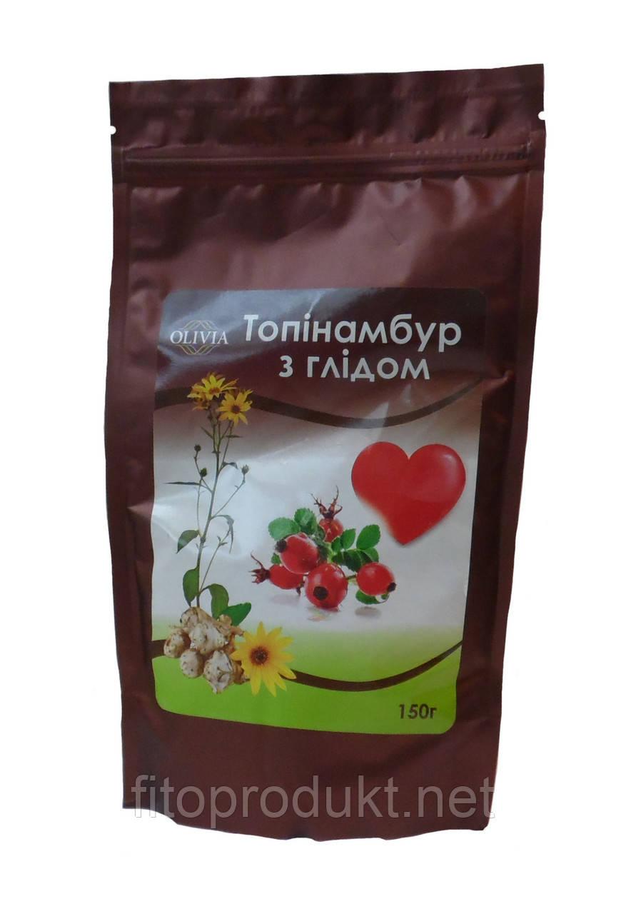 Топинамбур с боярышником для сердечно-сосудистой системы порошок 150 гр Оливиа