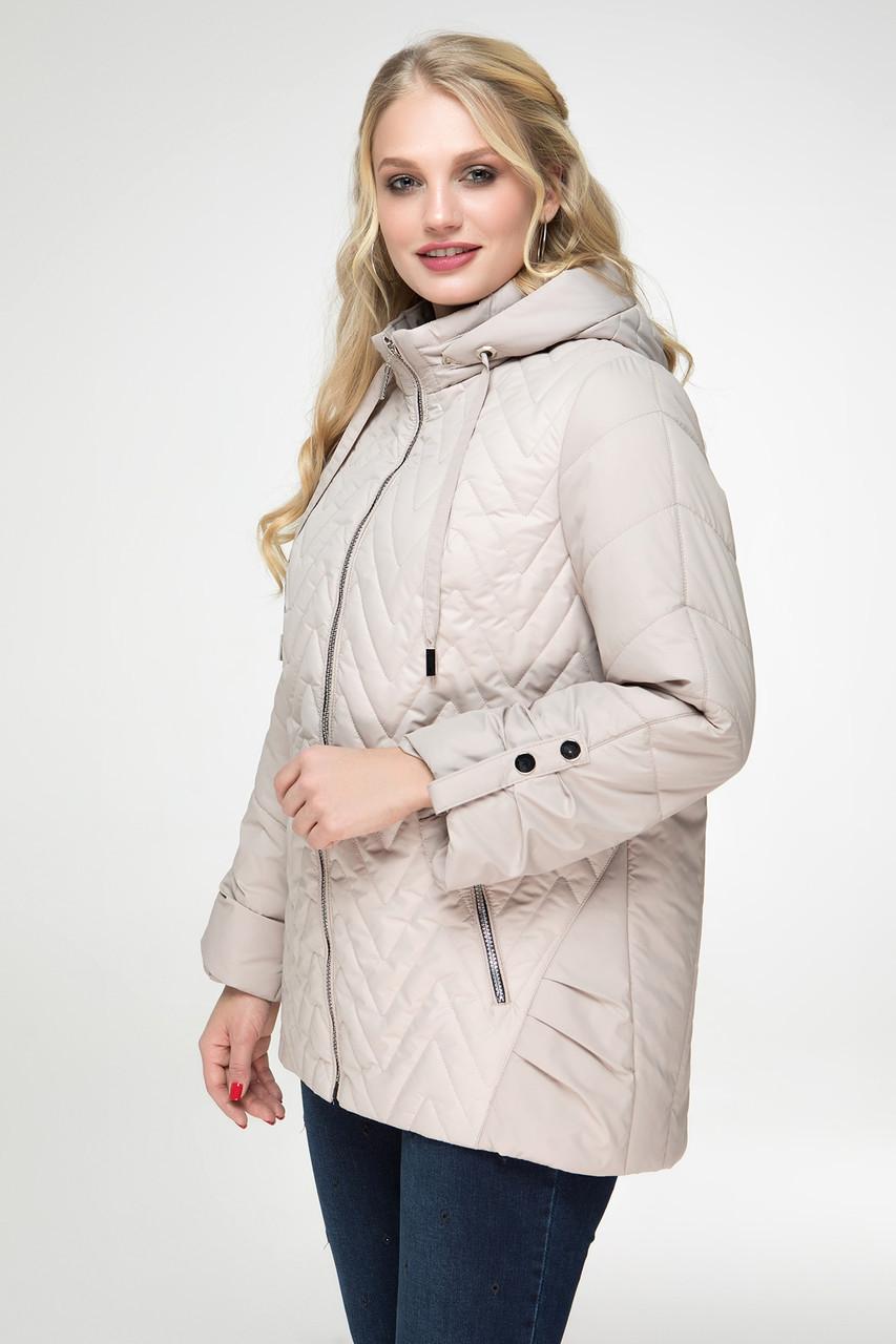 Весенняя короткая куртка расширенная к низу, размеры 52 56 58
