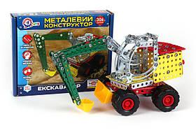 "Металлический Конструктор ТехноК ""Экскаватор"" 4784"
