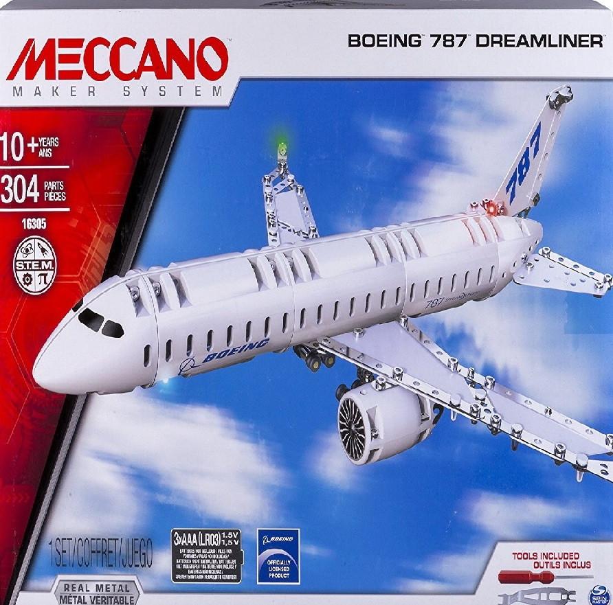Конструктор Металлический Meccano 6028402 Boeing 787 Dreamliner