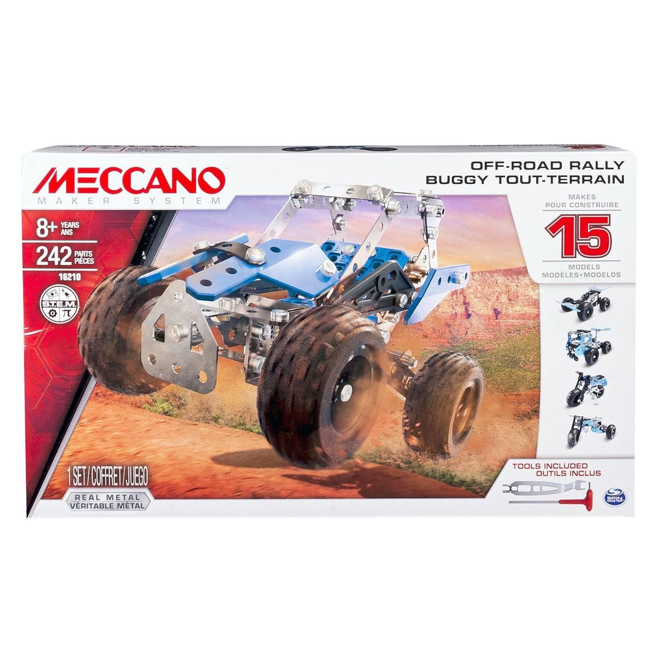 Конструктор Металлический Meccano 6028580 Buggy Tout-Terrain + 15 моделей 242дет