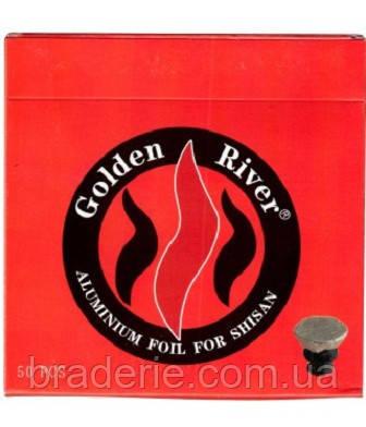 Алюминиевая фольга для кальяна 50 листов Golden River 9809, фото 2