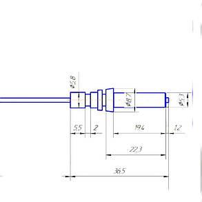 Свеча поджига для газовой плиты Ariston, Pyramida L=645 мм, фото 2