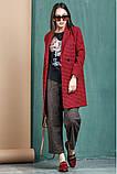 Женское пальто  размер 42 - 48 цвет бордовый, фото 2