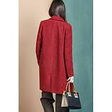 Женское пальто  размер 42 - 48 цвет бордовый, фото 3