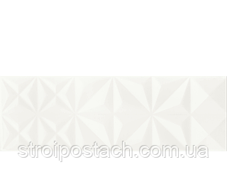 Плитка Opoczno White Magic WHITE GLOSSY SQUARES STRUCTURE