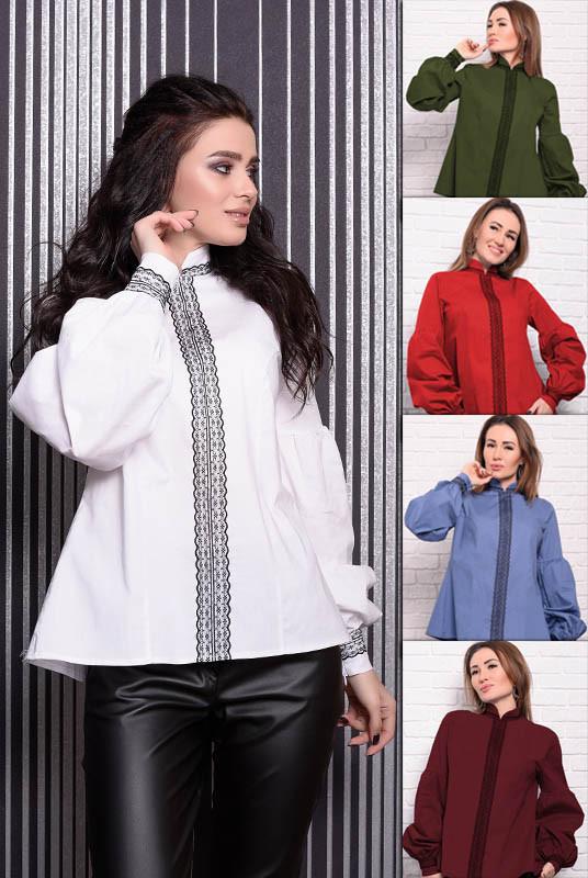 Котоновые женские рубашки Анастасия