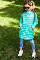 Детское демисезонное пальто Никса для девочки (рост 116-164)