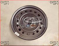 Диск колесный, стальной, R15, Geely GC7(FC2), 1064000183, Original parts