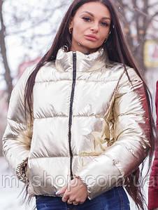 Женская золотая куртка (Альба 2mrb)