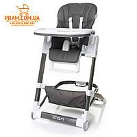 4BABY ICON стульчик для кормления Grey Серый, фото 1