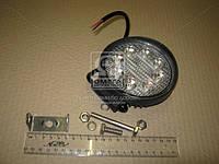 Фара LED круглая 24W, 8 ламп, 110*128мм, узкий луч 12/24V (ТМ JUBANA)