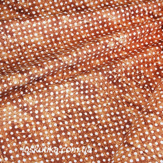36002 Горох красно-коричневый (потертый). Ткани для шитья и декорирования. Натуральный хлопок.