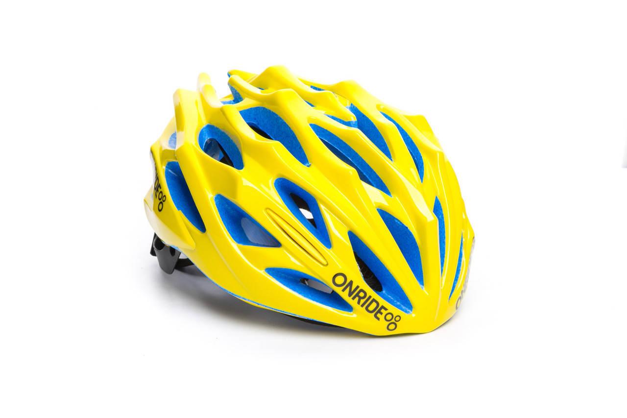 Шолом велосипедний ONRIDE Serval L Yellow (58-61), фото 2