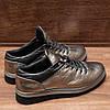 Слипоны женские кожаные на шнурках, фото 3