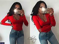 Женская Стильная КОФТА Черная, Красная Код 007716