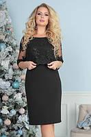 """Платье большого размера с кружевом """"Одри""""  Новинки, фото 1"""