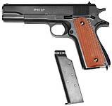 Игрушечный страйкбольный пистолет Galaxy G.13+ Colt 1911 Кольт 1911 black с кобурой, фото 2