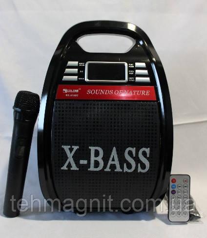 Бумбокс з радіомікрофоном Golon RX-810BT (USB/Bluetooth/FM/акумулятор)