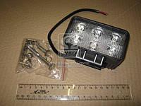 Фара LED прямоугольная 18W, 6 ламп, 110*114,5мм, узкий луч 12/24V (ТМ JUBANA)