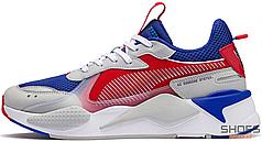Мужские кроссовки Puma RS-X X TRANSFORMERS OPTIMUS Blue/Red 370728-01, Пума РС-Х