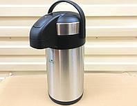 Термос помповый стальной 2,5 литра, фото 1