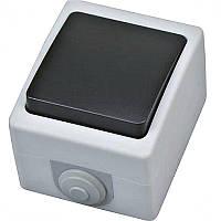 """Выключатель проходной накладной """"ATOM"""" Horoz IP54 1-клавишный"""
