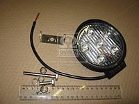Фара LED круглая 18W, 6 ламп, 110*128мм, узкий луч 12/24V (ТМ JUBANA)