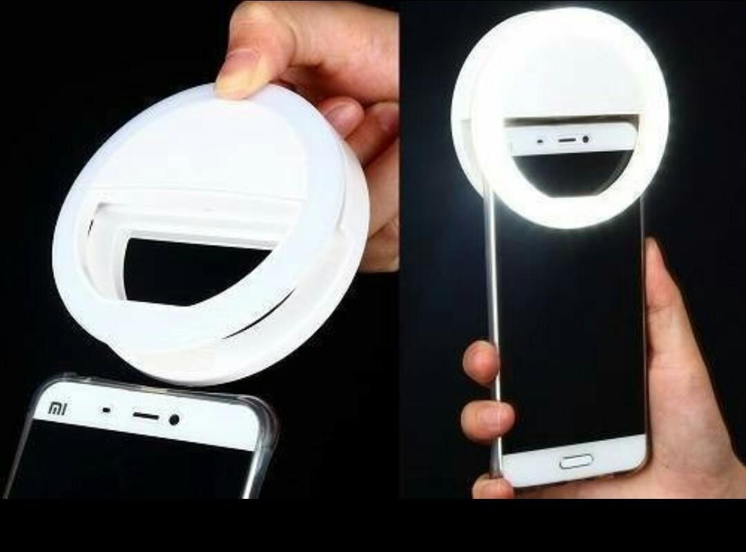 Кольцо для селфи Ring light светодиодное 3 режима на батарейках