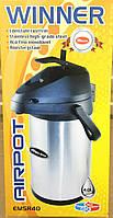 Термос 4.0 литра Помповый WINNER (стальной корпус и колоба), фото 1