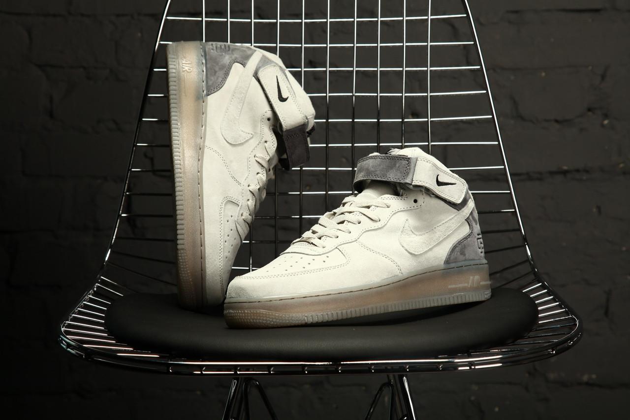 Мужские кроссовки Nike Air Force 1 MID X Reigning Champ. Натуральная замша