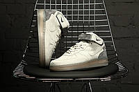 Мужские кроссовки Nike Air Force 1 MID X Reigning Champ. Натуральная замша, фото 1