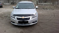 Мухобойка на капот Chevrolet CRUZE/Daewoo LACETTI sd 09- (SIM)