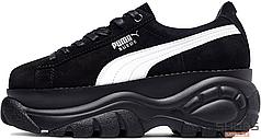 Женские кроссовки Puma x Buffalo Suede Classic Black 368499 02, Пума Буфало Сьюд