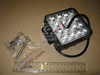 Фара LED квадратная 48W, 16 ламп, 110*164мм, узкий луч 12/24V (ТМ JUBANA)