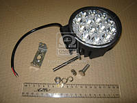Фара LED круглая 42W, 14 ламп, 116*137,5мм, узкий луч 12/24V (ТМ JUBANA)