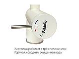 Комбинированный кухонный смеситель (3 в 1) с одним рычагом управления Fabiano FKM 31.12SS INOX, фото 2