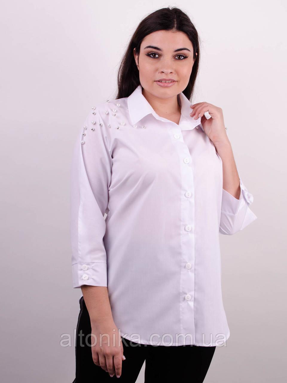 Магда. Рубашка для офиса больших размеров 58-60, 62-64