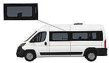 Боковое стекло длинная база Peugeot Boxer 2007-2019 среднее левое