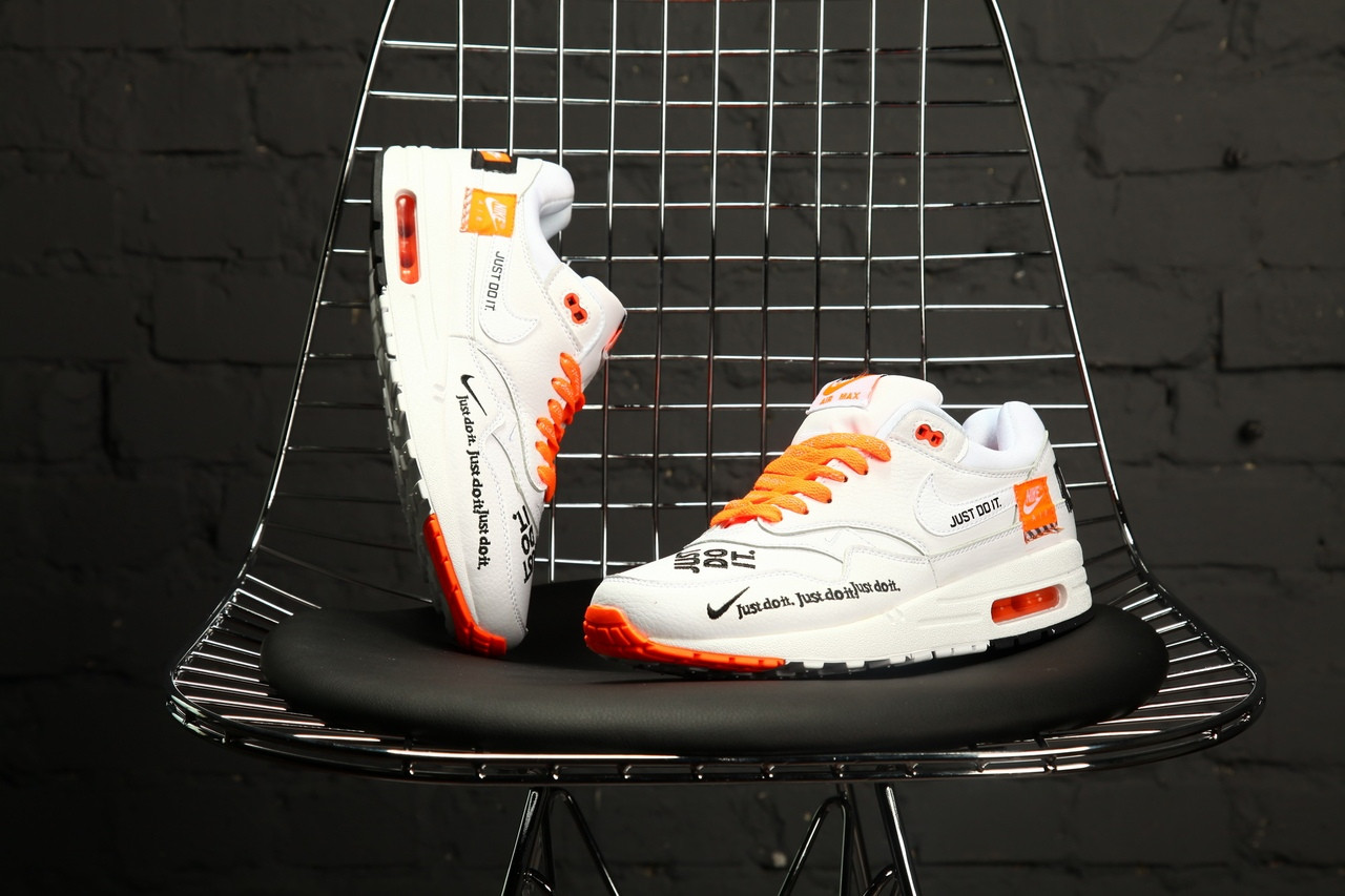 Мужские кроссовки Nike Air Max 1 Just Do It Pack White